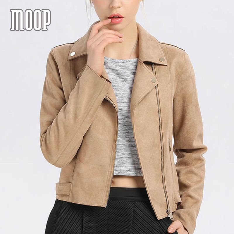 Aliexpress.com : Buy Khaki red suede leather jackets women