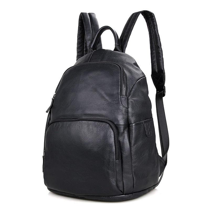 Hommes de crazy horse sac à dos Multifonctionnel véritable en cuir 14 Ordinateur Portable sac à dos Peau de Vache école décontracté sac à bandoulière