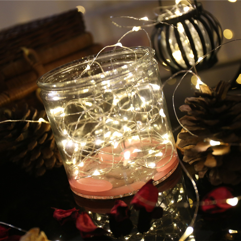 3M 30 Leds Christmas Tree Lights String LED Copper Wire Fairy Lights For Festival Wedding Party Home Table Decor Xmas Decoration