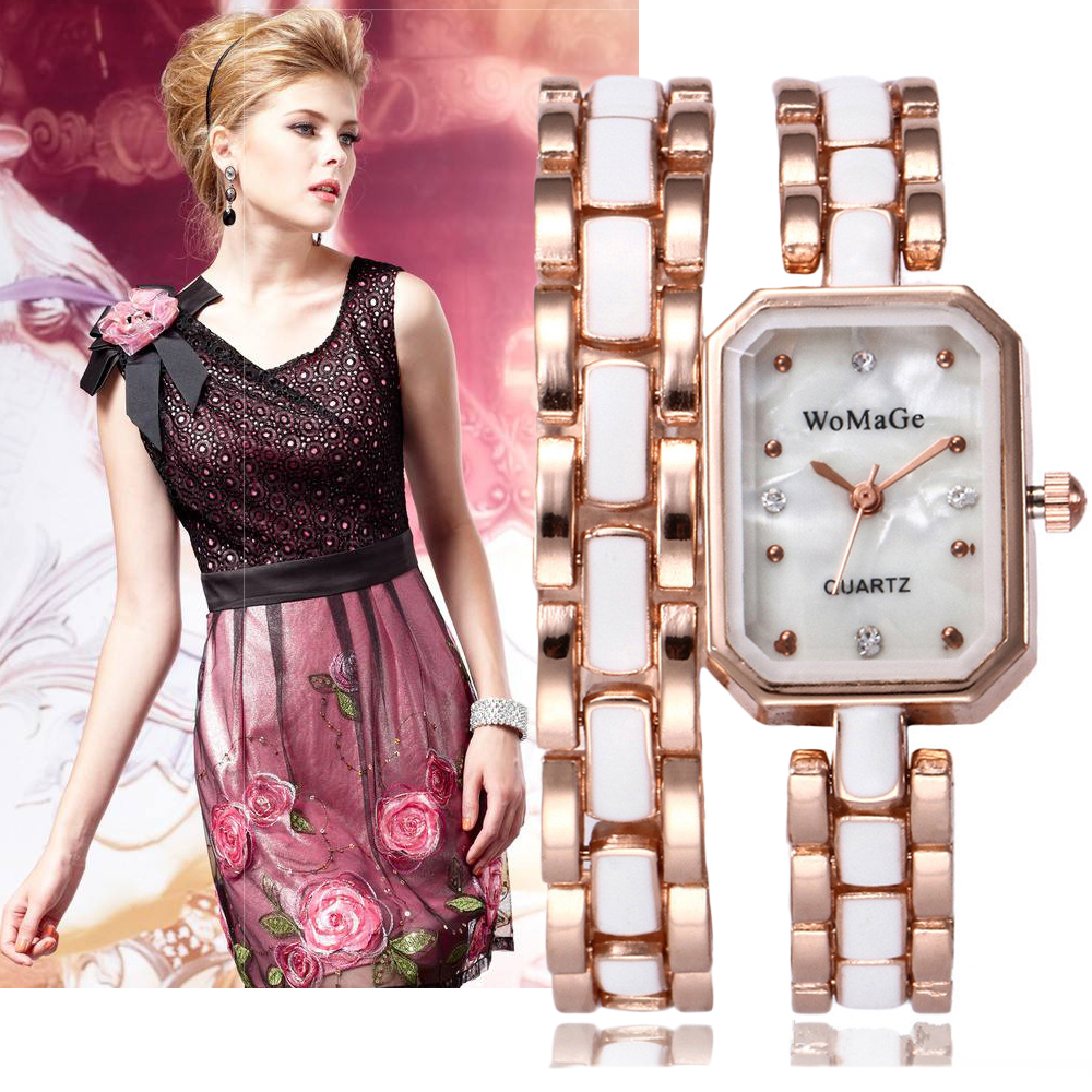 Fashion Stainless Steel Rose Gold Womens Watches Top Brand Luxury Ladies Hand Chain Watch Women Casual Clock Relogio Feminino 2016 new ladies fashion watches decorative grape no word design gold watch stainless steel women casual wrist watch fd0107