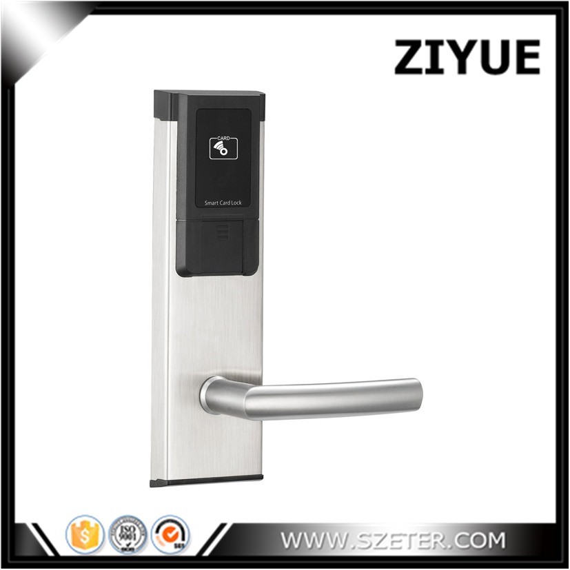 Hotel Lock Smart Hotel Door Lock RFID with LED Screen  ET118 hotel lock system rfid t5577 hotel lock gold silver zinc alloy forging material sn ca 8037