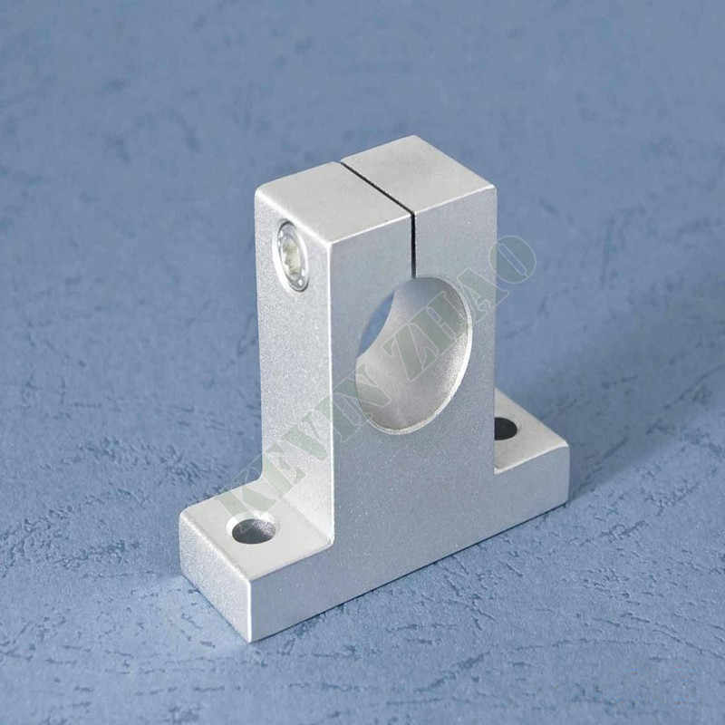 1 pçs sk10 10mm suporte do eixo ferroviário de rolamento linear xyz mesa cnc roteador sh10a