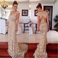 2015 elegante mulheres Evening vestidos Cap mangas de renda Prom vestidos longos casamentos e eventos