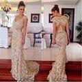2015 mujeres elegantes vestidos de noche Cap mangas de encaje vestidos fiesta largo bodas y eventos