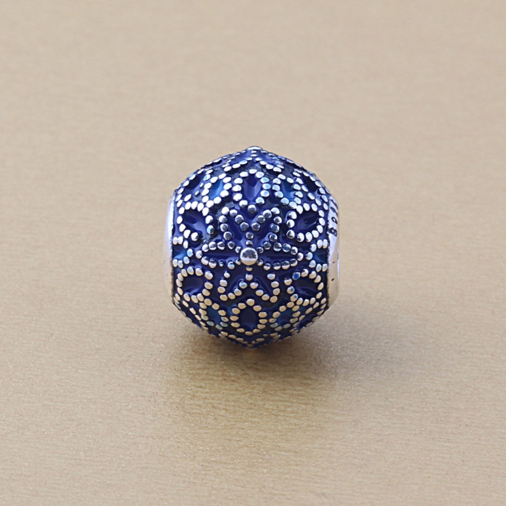 Zmzy authentic 100 925 sterling silver blue flower enamel charm zmzy authentic 100 925 sterling silver blue flower enamel charm beads fits pandora charms bracelet in beads from jewelry accessories on aliexpress izmirmasajfo