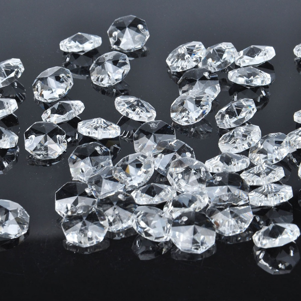 14mm lamp chandelier parts octagon crystal beads in 2 hole wedding 14mm lamp chandelier parts octagon crystal beads in 2 hole wedding ornaments suncatcher diy making curtain wedding home decor in figurines miniatures from mozeypictures Image collections