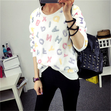 Spring Winter Sweater Women Top Lovely Lesser Bears Print Knitted Sweater