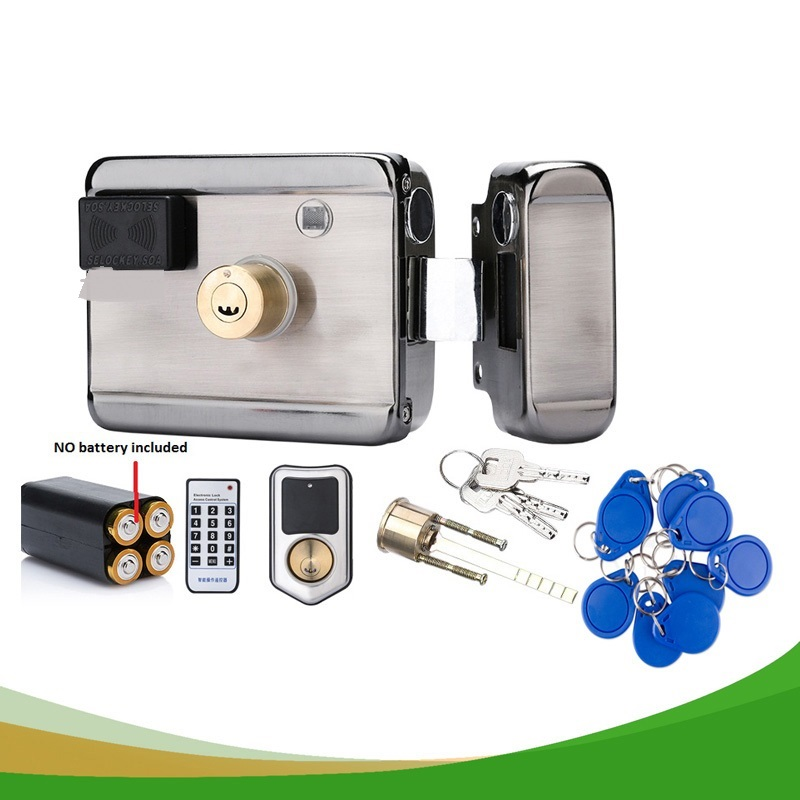 battery powered /12VDC 13.56 IC RFID Reader electric Gate Door Lock Access Control  System kit with 10tags or TM tagbattery powered /12VDC 13.56 IC RFID Reader electric Gate Door Lock Access Control  System kit with 10tags or TM tag