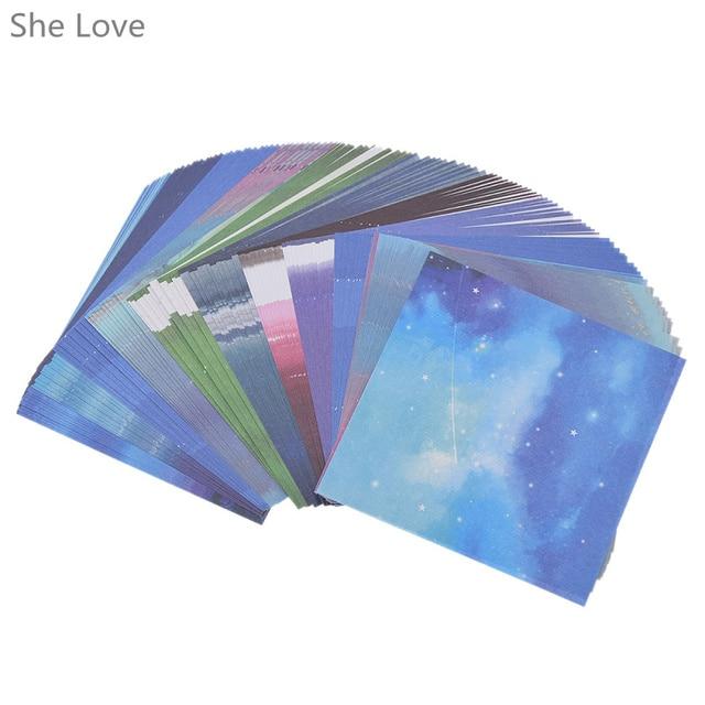 그녀는 사랑 스크랩북 종이 접기 종이 아트 배경 우주 행성 달 종이 카드 만들기 DIY 공예