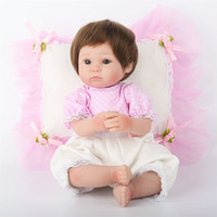 Soft Silicone Artificial Lifelike Reborn Baby Doll With Cloth Body Simulation For Kids Birthday Gift Sleeping