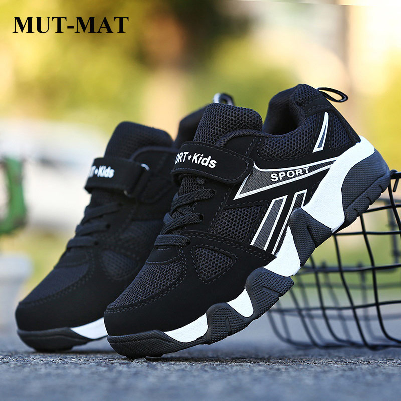 Children's Shoes 2019 Fashion Autumn Non-slip Children Sports Shoes Breathable Mesh Running Shoes Boys Wear-resistant Sneakers