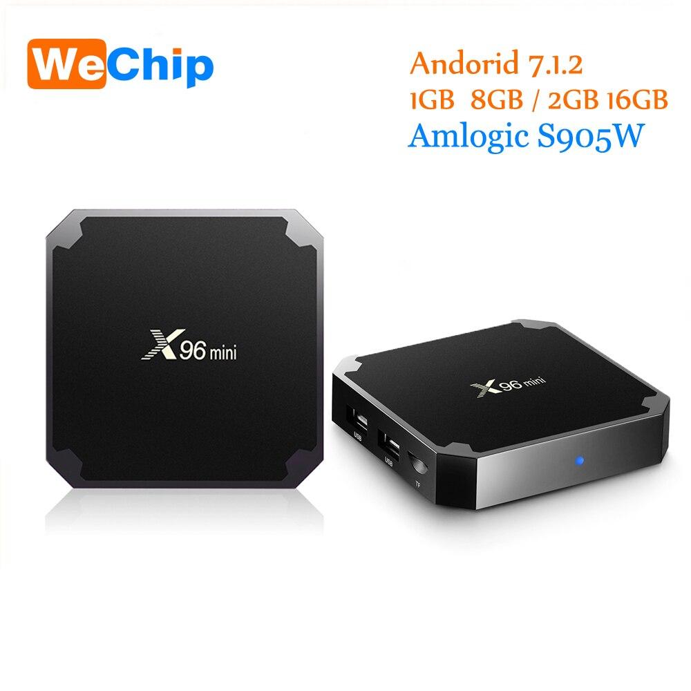 Wechip Amlogic S905W X96 Mini Android Tv Box 1g/8g 2G/16G Android 7.1.2 quad Core Soporte 4 K Media Player x96mini Set Top Box