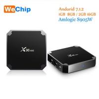 Wechip Amlogic s905w x96 Мини Android TV Box 1 г/8 г 2 г/16 г Android 7.1.2 4 ядра Поддержка 4 К media player x96mini Декодер каналов кабельного телевидения