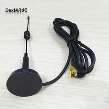 1PC 3dbi sucker wifi antenna RP-SMA 2.4Ghz antenna magnetic base extension 1.5M cable RPSMA male connector  hf antenna