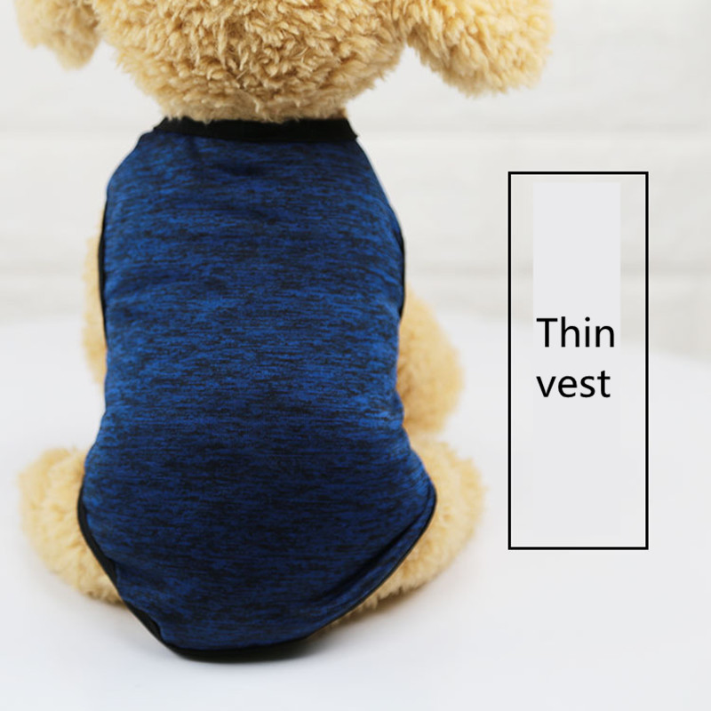 2019 classic Pet Clothes for Small Dog Girl Dog Boy Summer thin section dog grooming Gray orange accessories t-shirt AprT3 (2)
