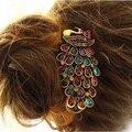 Новый Изысканный Практическая Улучшенный Прекрасный Старинные Ювелирные Изделия Кристалл Павлин Зажим Для Волос