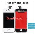 1 unidades mejor calidad aaa precio para iphone 4s/4 reemplazo de pantalla lcd con la asamblea del digitizador negro/blanco envío gratis