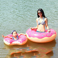 2017 New Hot 60cm 70cm 80cm 90cm 120cm Donut Swimming Toy Summer Water Sport Inflatable Toy Inflatable Ring Gift For Children