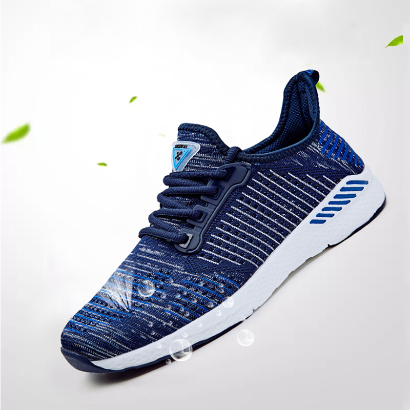 Vulcanize-Shoes Walking-Sneakers Mesh Lace-Up for Men Breathable Tenis Feminino Zapatos