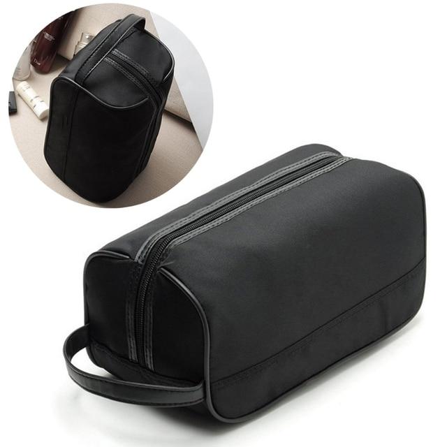 894d092de33 Fashion New Portable Men Black Travel Waterproof Makeup Toiletry Bag Wash  Shower Cosmetic Organizer Nylon Casual S L Handbags