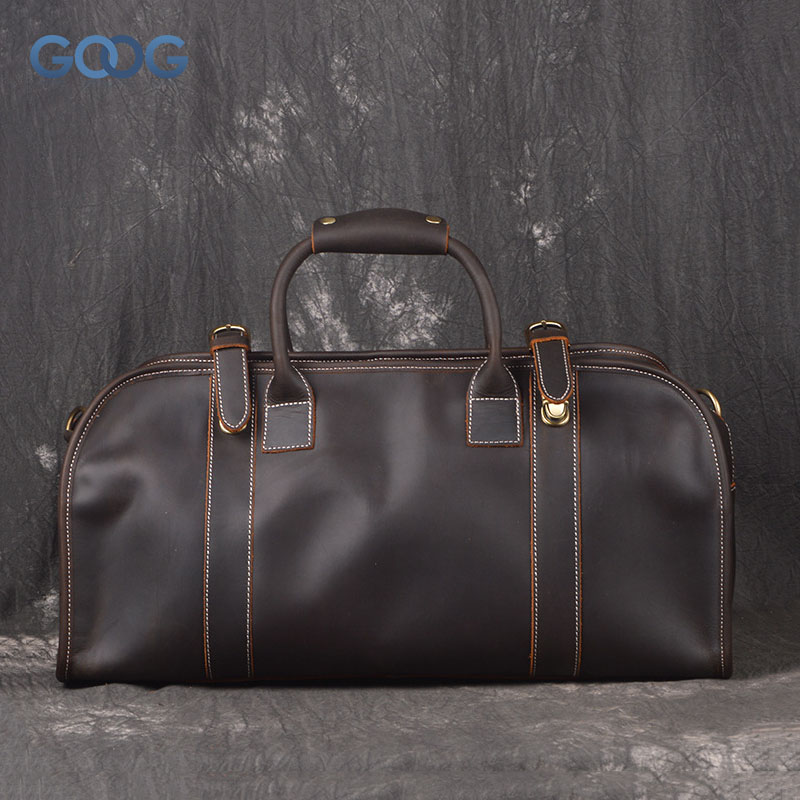 New imports of mad horse leather bag large capacity handbag head layer of leather zipper pocket shoulder diagonal package
