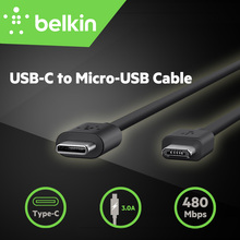 1 8m Type C Belkin Original USB C to Micro USB Sync Charge Cable for MacBook