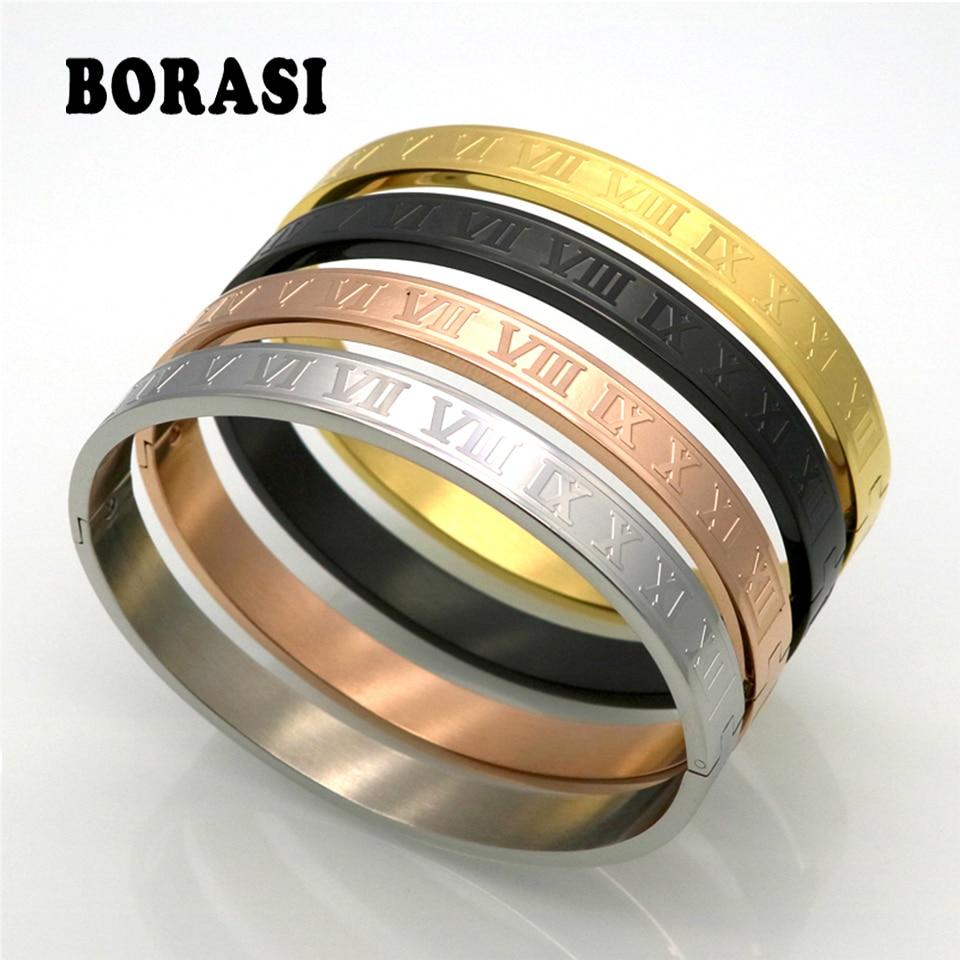 Menifte prej çeliku të pandryshkshëm për burra dhe gra Roseiftet me ngjyrë të artë