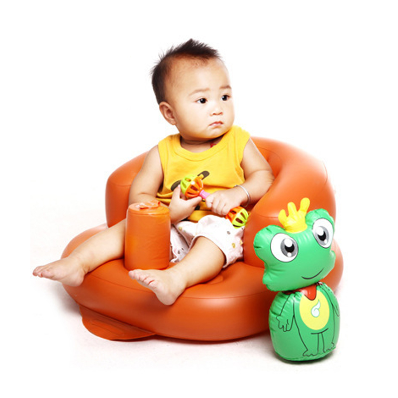 Safety Environmental Protection Inflatable Baby's Chair Portable Kids Sofa Multi-function Infants' Study Chair Golden Green Pink
