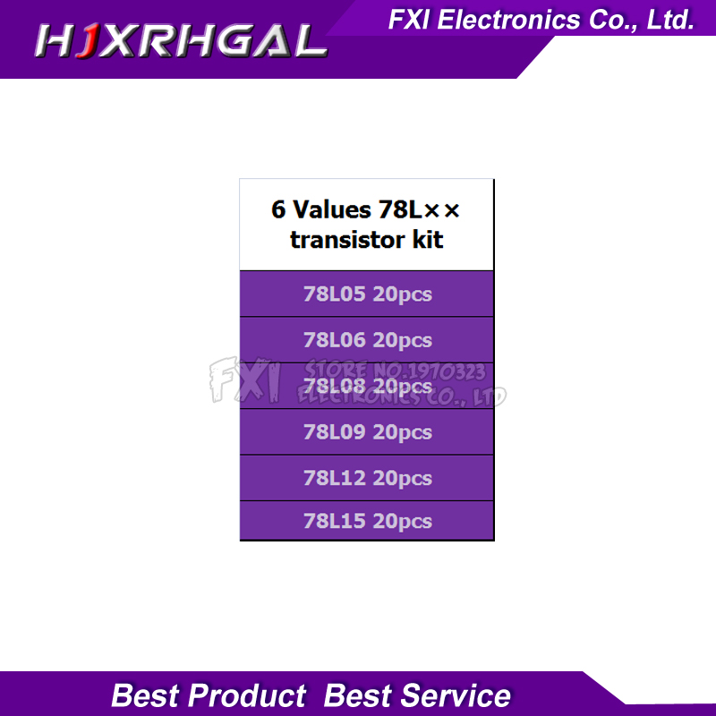 Image 4 - 20PCSX6values=120pcs 78L05 78L06 78L08 78L09 78L12 78L15 TO 92 TO92 Transistor package Assorted Kit new and-in Integrated Circuits from Electronic Components & Supplies