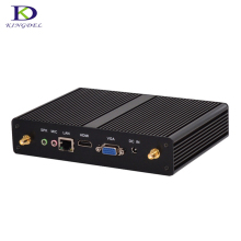 windows7 Fanless mini computer Qual core J1900 Intel Nuc small mini pc with HDMI VGA wifi 1920*1080 2.0GHz 2G RAM 32G SSD tv box