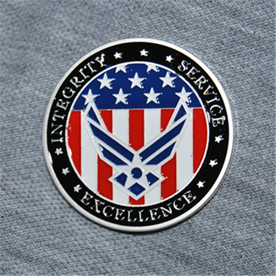 Free Shipping 50pcs/lot,United States Air Force USAF Enlistment Oath Challenge Coin