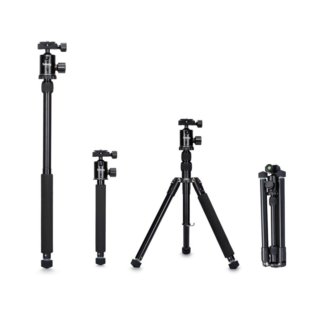 """Prix pour Selens 150 cm/62 """"noir professionnel trépied photographie monopode pour appareil photo reflex numérique portable léger voyage tripode stand"""