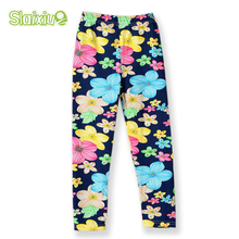 Girls Leggings Printing Flower Legging Infantil Para Menina Toddler Classic Leggings 2-14y Baby Girl Pencil Pants Kids Trousers