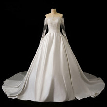 Full Sleeves A-Line Wedding Dress Bride Dress Liyuke