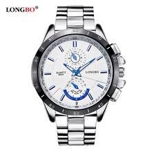 Longbo Top famosos esportes marca mergulho militar de quartzo homens relógio de aço completa à prova d ' água moda de luxo relógios relogio Masculino
