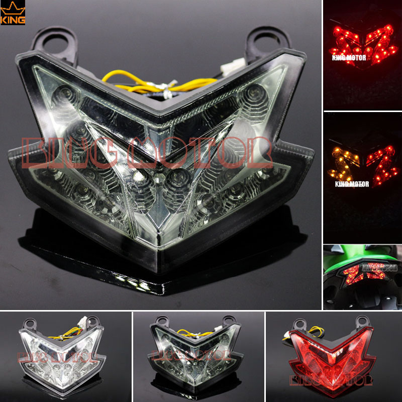 For KAWASAKI Z800 2013-2016 Motorcycle Accessories Integrated LED Tail Light Turn signal Blinker Smoke for yamaha fz 09 mt 09 fj 09 mt09 tracer 2014 2016 motorcycle integrated led tail light brake turn signal blinker lamp smoke