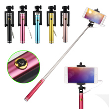 New Wired Extendable Selfie Tripod Handheld Stick Monopod Holder With Built-in Shutter For Android IOS iPhone 6/ 6S Plus CX88