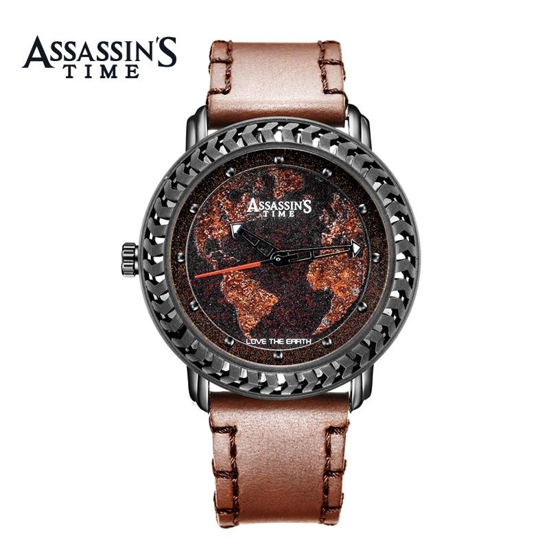 Assassin's Time Fashion Style Fashion Men Mapa Cuarzo Reloj Deportivo - Relojes para hombres - foto 2
