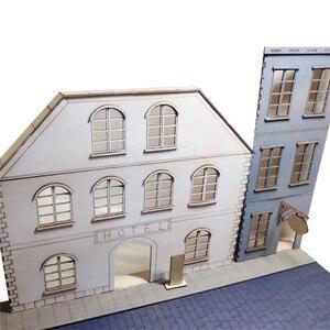 Image 4 - Масштаб 1/35, европейские городские уличные сцены, деревянная сборка, Набор для творчества
