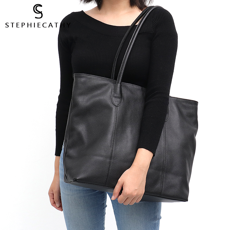 SC Luxury Women Italian Genuine Leather Big Shoulder Bag Large Top handle Real Leather Tote Bags