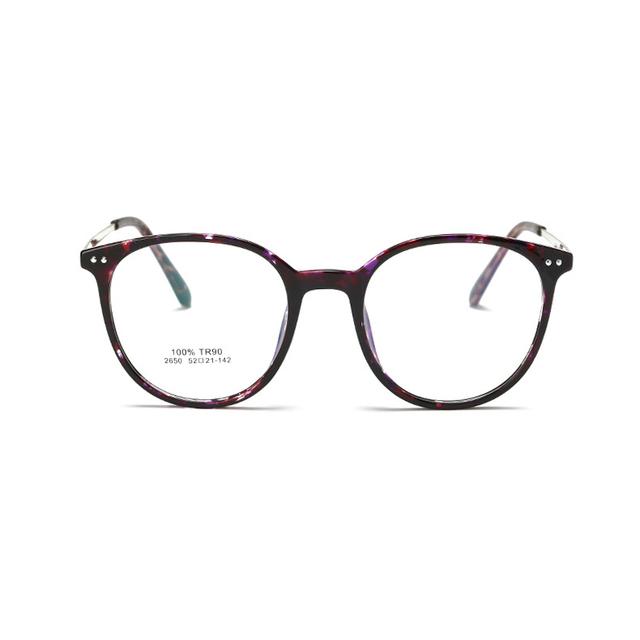 2017 hombres vidrios ópticos marco coreano equipo claro ronda gafas gafas graduadas vintage gafas mujeres óptico 2650