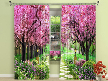 Garden Scenery 3D Blackout Curtains Healthy Shower Curtain