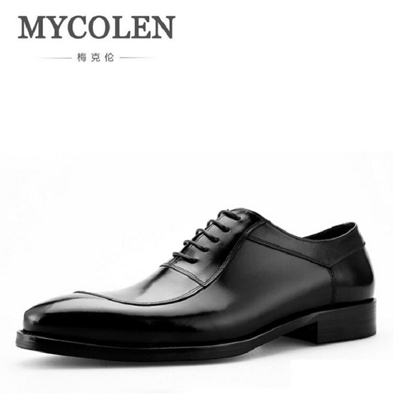 MYCOLEN 2017 Leather Casual Men Shoes Fashion Brand Men Flats Pointe Toe Comfortable Office Men Dress Shoes chaussure homme cuir gram epos men casual shoes top quality men high top shoes fashion breathable hip hop shoes men red black white chaussure hommre