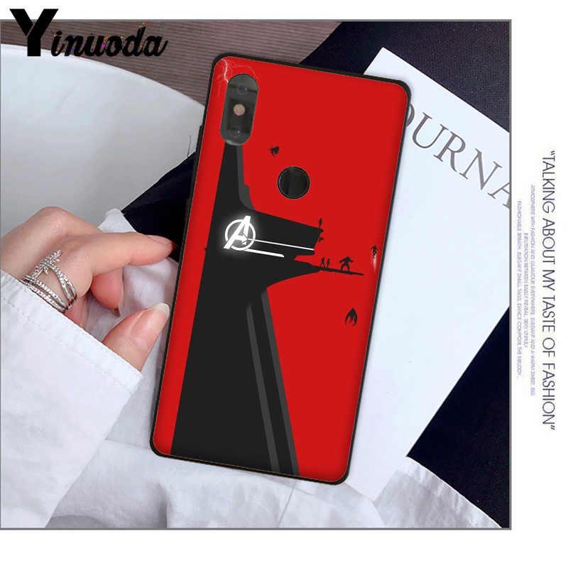 Yinuoda מארוול נוקמי מגיבורי שיתוף mi cs גבוהה-סוף מגן מקרה עבור אדום mi 5 בתוספת הערה 5 Xuiao mi mi 8 8SE 6 mi X 2 2 S נייד מקרי