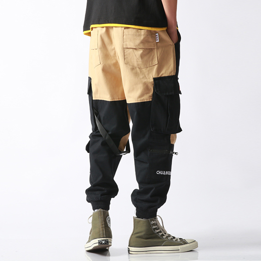 917c61b7c1 Aelfric 2018 Eden bolsillos pantalones de hombres de Color Patchwork Casual  Jogger moda táctico pantalones marea
