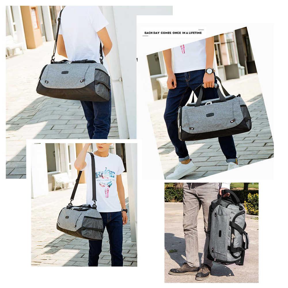 Bolsas de viaje para hombre MARKROYAL bolsa de equipaje de mano de diseño antirobo de gran capacidad de viaje bolsa de fin de semana multifuncional impermeable