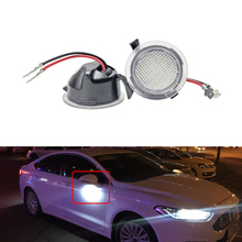 2PCs Led Under Side Mirror Puddle Lights For Ford Edge Flex Explorer Mondeo Taurus F-150 Expedition For Toyota Tundra Sequoia