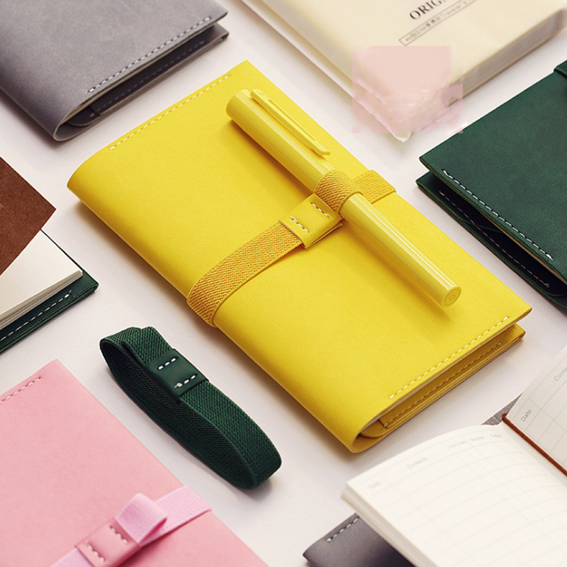 1 Pcs/set portable traveler Notebook diary stationery travel journal faux leather cover Notebook coverway travel accessories traveler