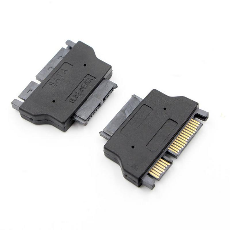 Slimline <font><b>SATA</b></font> <font><b>Adapter</b></font> Serial ATA 7+15 <font><b>22pin</b></font> <font><b>Male</b></font> <font><b>To</b></font> Slim 7+6 <font><b>13pin</b></font> Female <font><b>Adapter</b></font> For Desktop Laptop HDD CD-ROM Hard Disk Drive image