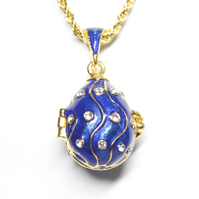 Hottest jewelry love is here brass enamel handmade faberge egg hottest jewelry love is here brass enamel handmade faberge egg pendant charm crystal necklace can open aloadofball Choice Image